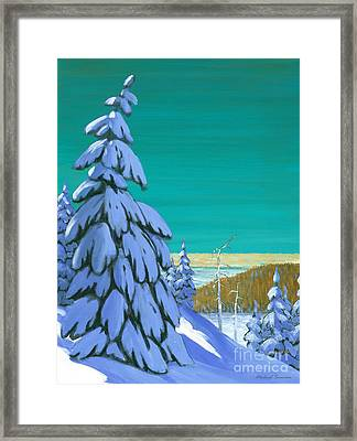 Blue Mountain High Framed Print by Michael Swanson