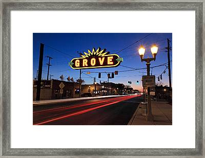 The Grove In Twilight Framed Print