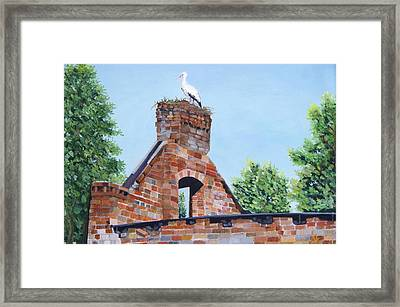 The Guard At Ruins  Framed Print