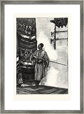 The Guard Of The Harem Framed Print by English School
