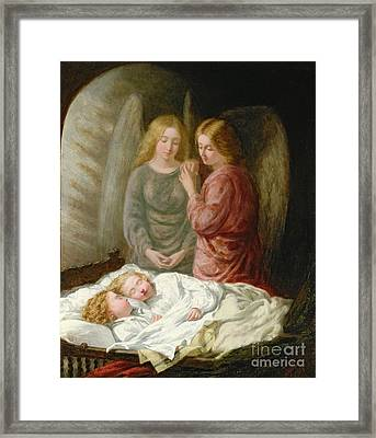 The Guardian Angels  Framed Print by Joshua Hargrave Sams Mann