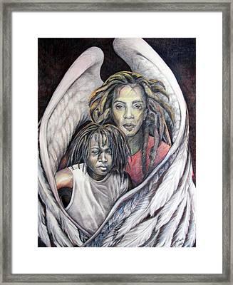 The Guardian Framed Print by Joyce McEwen Crawford