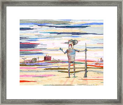 The Guardian Of Rosebud County Framed Print by Scott Kirby