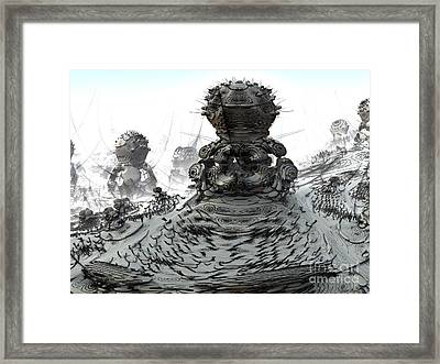 Framed Print featuring the digital art The Guardians by Arlene Sundby