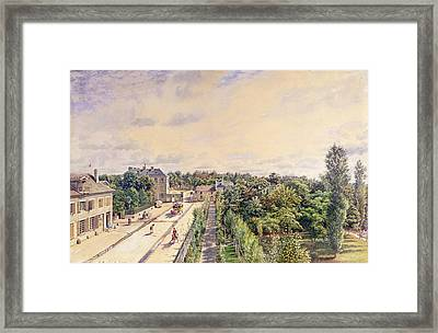 The Guest House At Sevres, C.1840 Wc On Paper Framed Print