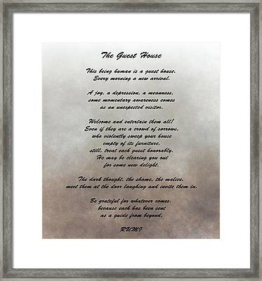 The Guest House Inspiration Framed Print
