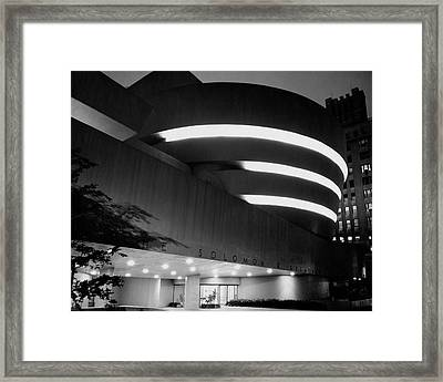The Guggenheim Museum In New York City Framed Print