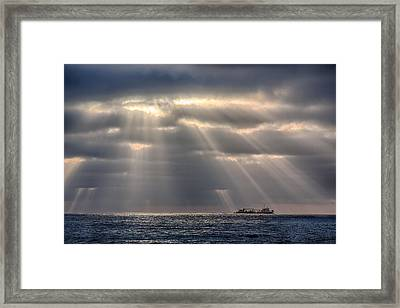 The Guiding Light Framed Print by Peter Tellone