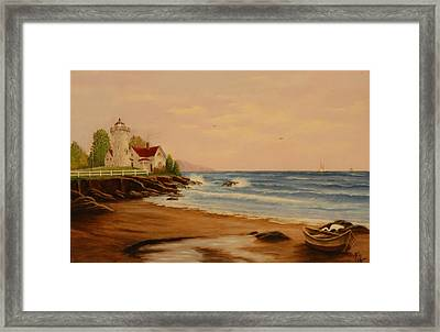 Framed Print featuring the painting The Guiding Light by Rick Fitzsimons