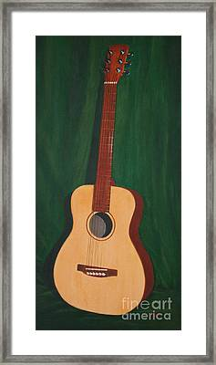 The Guitar  Framed Print by Jimmie Bartlett