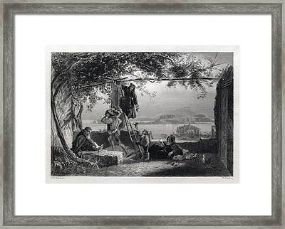 The Gulf Of Baiae. Baiae Or Baia Is In The Comune Of Bacoli Framed Print