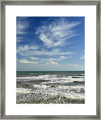 The Gulf Of Mexico From Galveston Framed Print