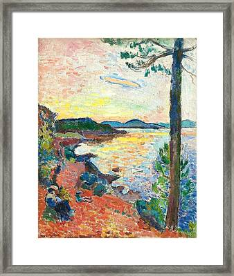 The Gulf Of Saint Tropez Framed Print by Henri Matisse