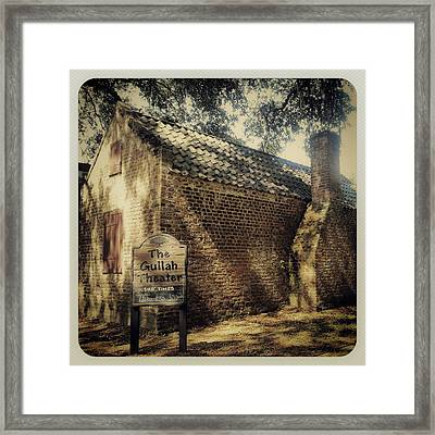 The Gullah Theater At Boone Hall Framed Print
