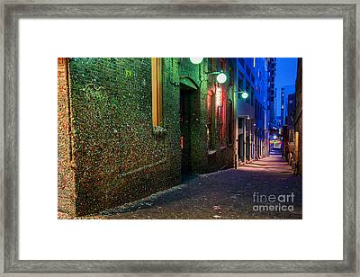 The Gum Wall Framed Print by Eddie Yerkish