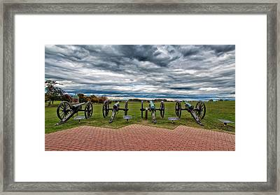 The Guns Of Antietam Framed Print