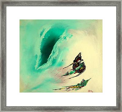 The Gush Framed Print by David Hatton