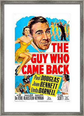 The Guy Who Came Back, Us Poster, Paul Framed Print by Everett