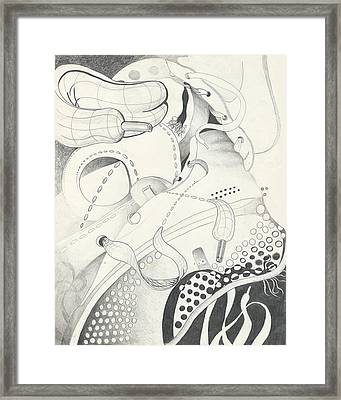 The Gym Shoe Shuffle Framed Print by Melinda Dare Benfield