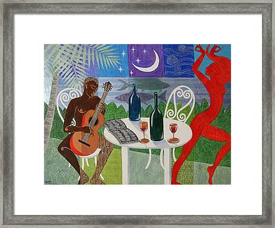 The Gypsy And The Troubadour Framed Print by Jennifer Baird