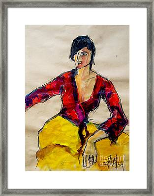 The Gypsy - Pia #2 - Figure Series Framed Print by Mona Edulesco