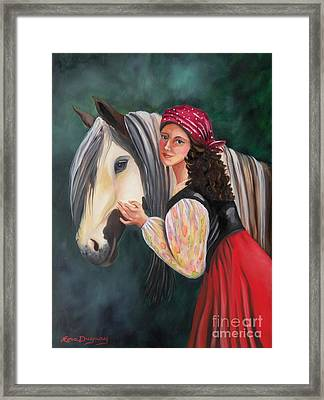 The Gypsy's Vanner Horse Framed Print