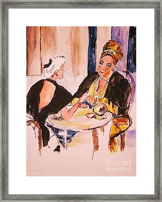 Framed Print featuring the painting The Gyspy by Helena Bebirian