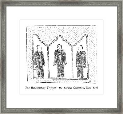 The Haberdashery Triptych - The Barneys Framed Print