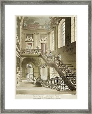 The Hall And Stair Case Framed Print