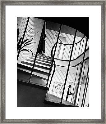 The Hall And Staircase Of Mr. And Mrs. Walter Framed Print