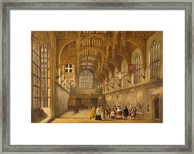 The Hall, Hampton Court, C.1600 Framed Print