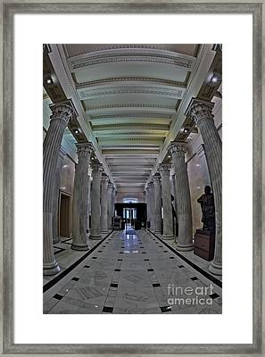 The Hall Of Columns Framed Print