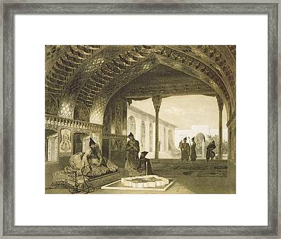 The Hall Of Mirrors In The Palace Framed Print by Grigori Grigorevich Gagarin