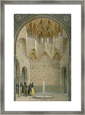 The Hall Of The Abencerrages Framed Print by Leon Auguste Asselineau