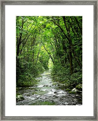 The Hall Of Water Framed Print by Russell Clenney