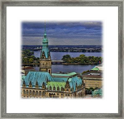 The Hamburg Rathaus Framed Print