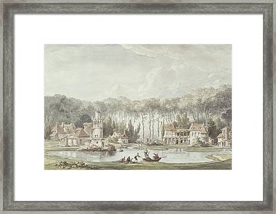 The Hameau, Petit Trianon, 1786 Wc Framed Print by Claude Louis Chatelet