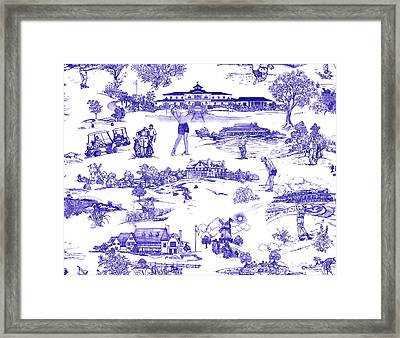 The Hamptons Historical Golf Courses Framed Print