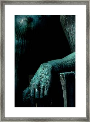 The Hand Of  A Nude Women Framed Print