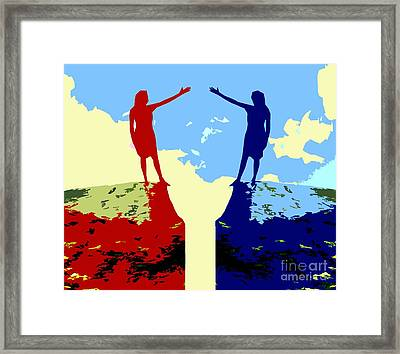 The Hand Of Friendship Framed Print by Patrick J Murphy