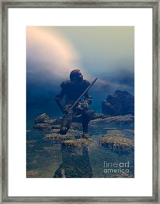 The Hand Of God On Your Head Framed Print by Sipo Liimatainen