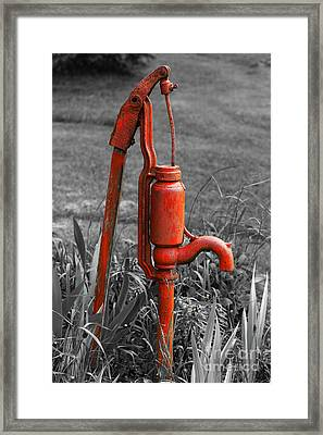 The Hand Pump Framed Print by Barbara McMahon