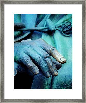 The Hand That Fed You Framed Print by Jill Jacobs