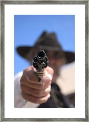 Framed Print featuring the photograph The Handgun by Bob Pardue