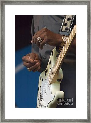 The Hands Of Buddy Guy Framed Print