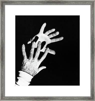 The Hands Of Dr. Michael Debakey Framed Print by Horst P. Horst