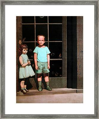 The Hands Resist Him Framed Print by William Stoneham