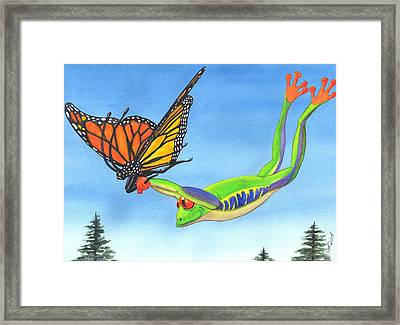The Hang Glider Framed Print by Catherine G McElroy
