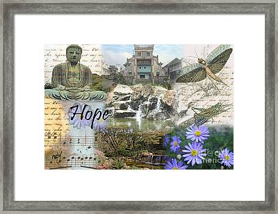 The Happy Buddah Framed Print