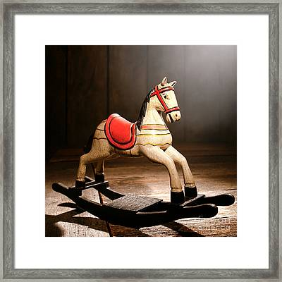 The Happy Little Rocking Horse In The Attic Framed Print